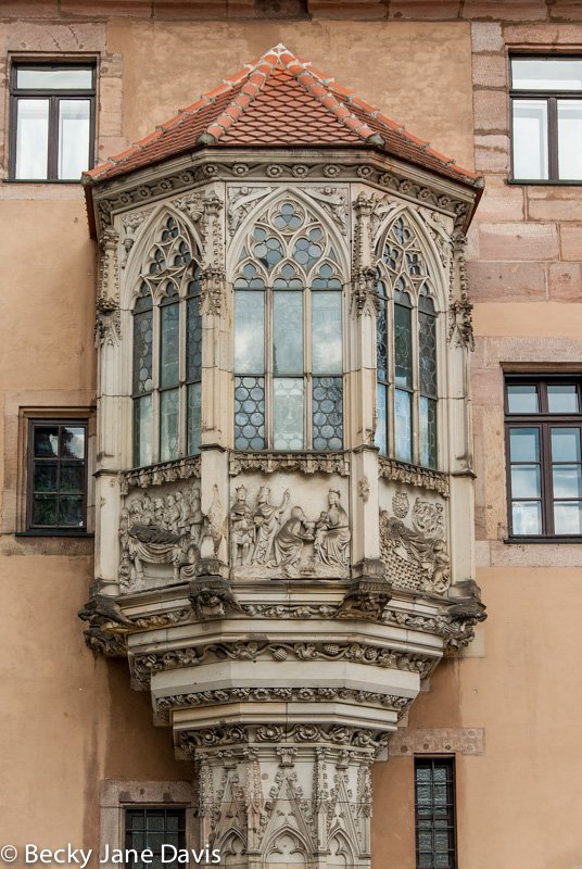 Architectural Detail, Haupmarket, Nuremburg, Germany