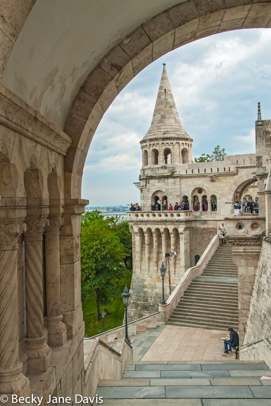 Fisherman's Bastion, framed, Budapest, Hungary