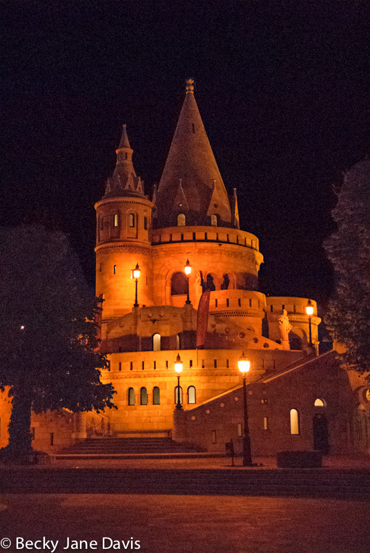 Fisherman's Bastion at Night, Budapest, Hungary