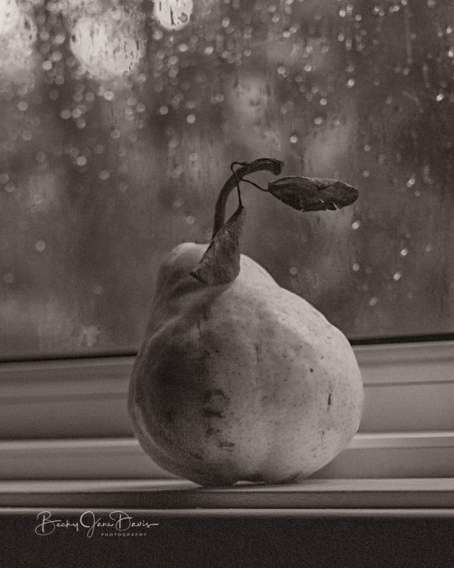 Pear on Windowsill