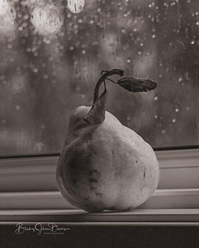 Pear on Windowsill