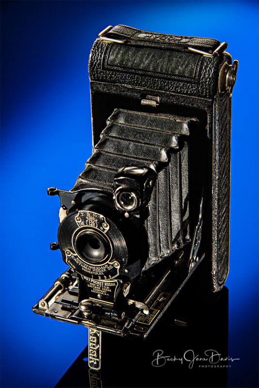 No. 1 Pocket Kodak Junior with Blue Gel