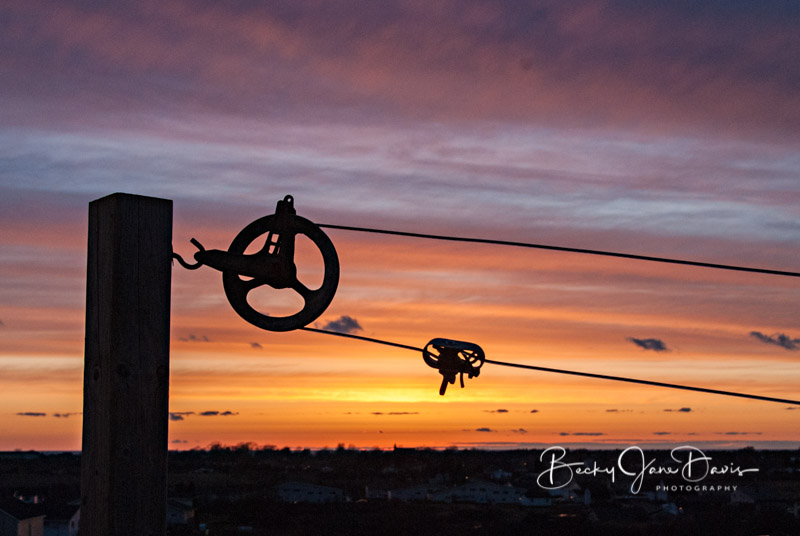 Yarmouth Sunset Clothesline