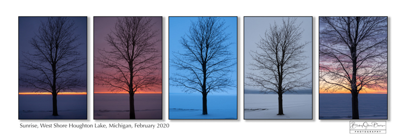 Sunrise on Houghton Lake 5-tych