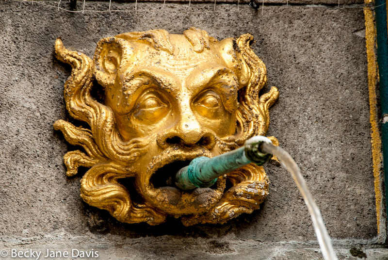 Detail on Beautiful Fountain, Nuremburg, Germany