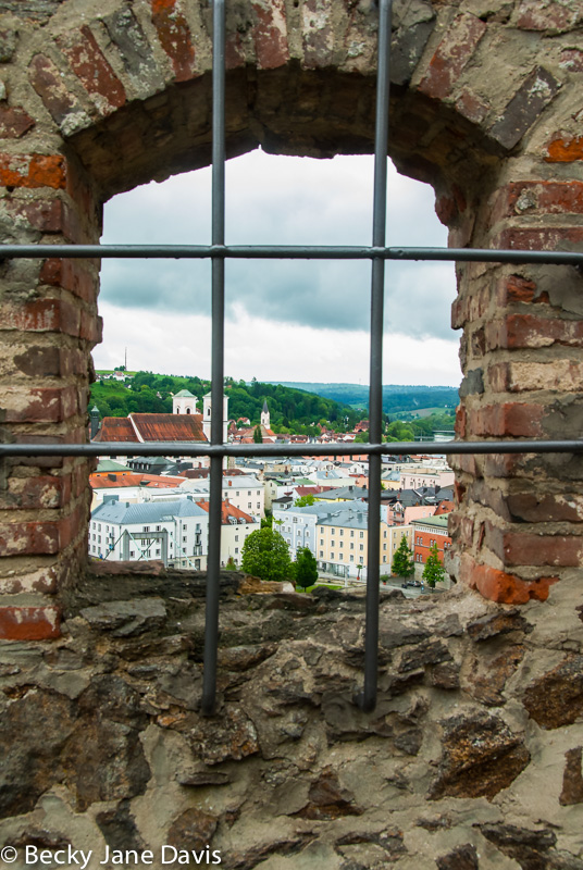 View from Fortress above Passau, Germany