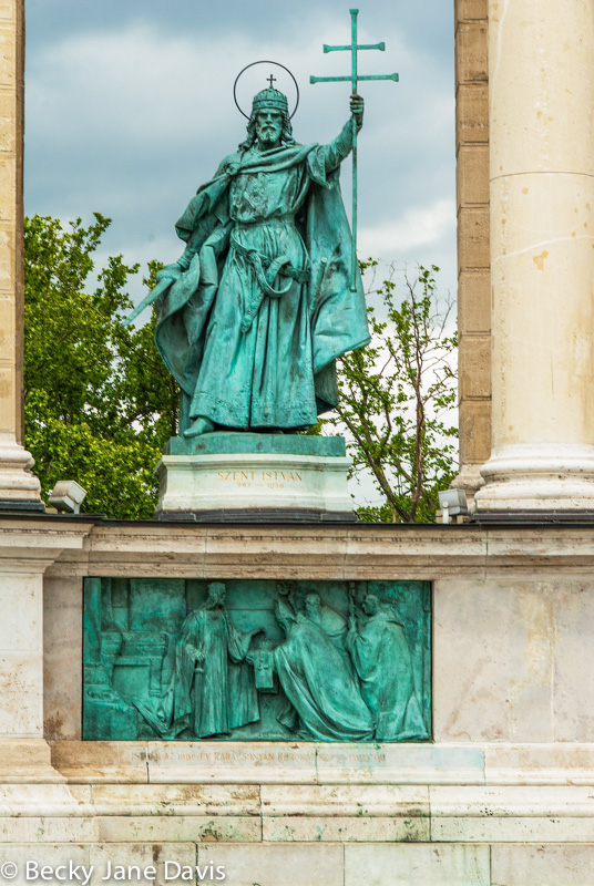 Statue Detail, Heroes Square, Budapest, Hungary