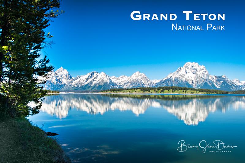 Teton Mountains on Jackson Lake