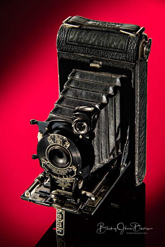 No. 1 Pocket Kodak Junior with Red Gel