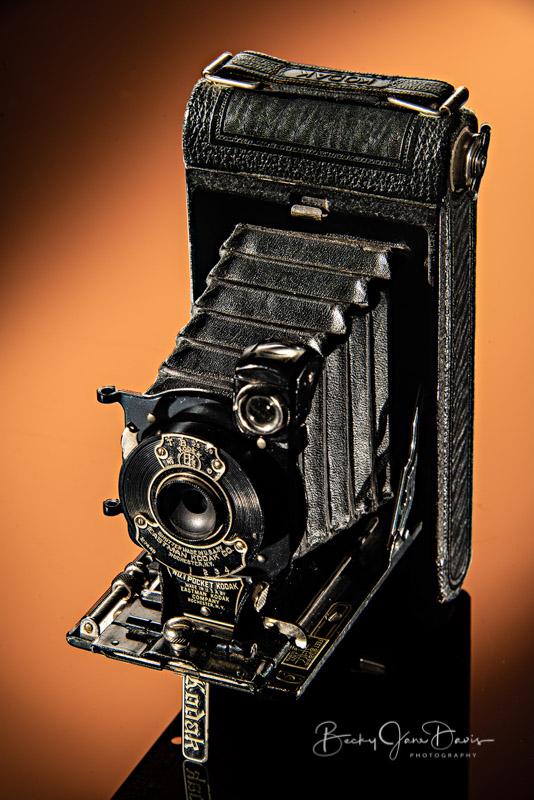 No. 1 Pocket Kodak Junior with Orange/Sepia Gel